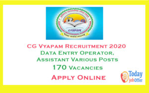 CG Vyapam Recruitment 2020