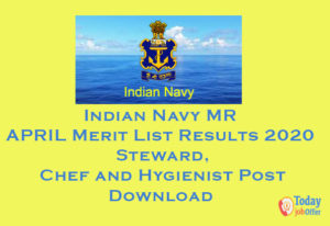 Indian Navy MR APRIL Merit List Results