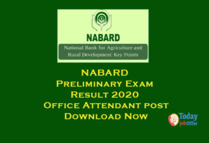 NABARD Preliminary Exam Result
