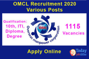 OMCL Recruitment