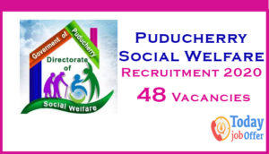 Puducherry Social Welfare Recruitment