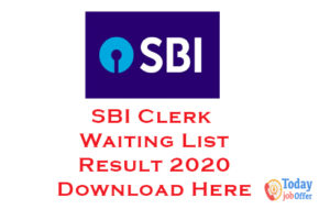 SBI Clerk Waiting List Result