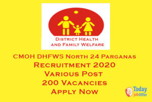 CMOH DHFWS North 24 Parganas Recruitment