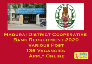 Madurai District Cooperative Bank Recruitment