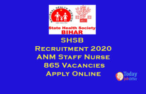 SHSB Recruitment
