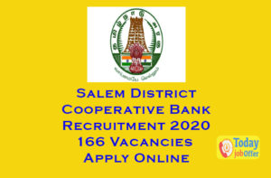 Salem District Cooperative Bank Recruitment