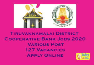 Tiruvannamalai District Cooperative Bank Jobs