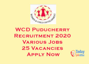 WCD Puducherry Recruitment